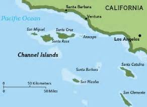 islands california coast map channel islands of california academic