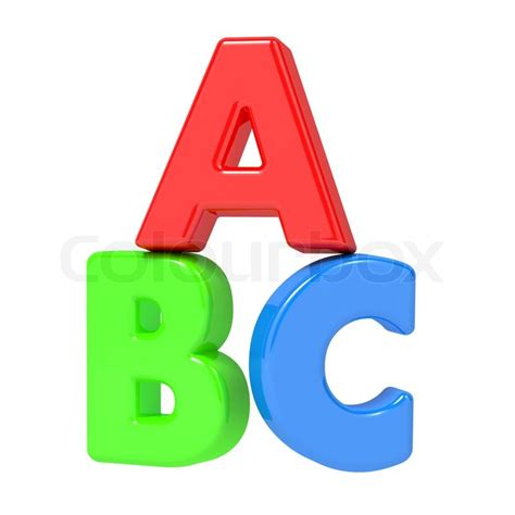 abc letters isolated on white stock photo colourbox