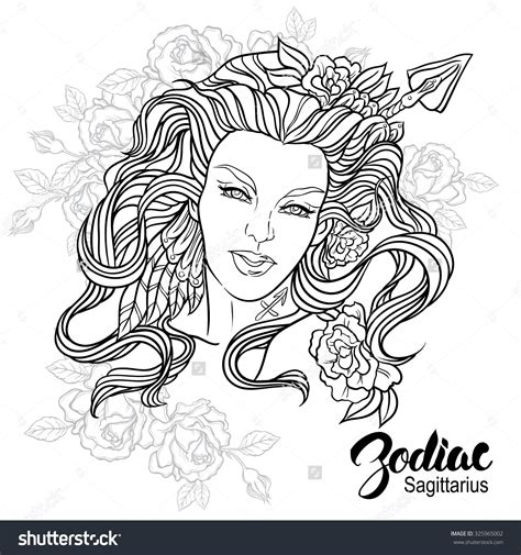 coloring pages zodiac signs zodiac sagittarius coloring page