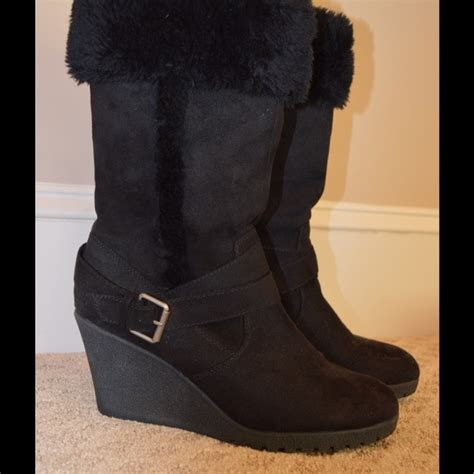 50 american eagle by payless boots black wedge boot