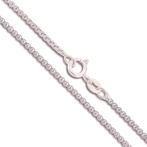 sterling silver box chain genuine solid 925 italy classic