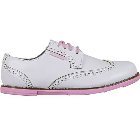 true linkswear true dame golf shoes womens white pink at
