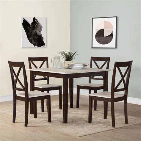 5 dining table set dorel living sunnybrook rustic 5 dining set
