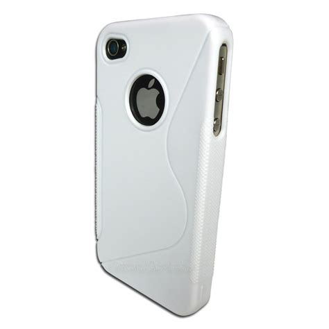 Stiker Line Iphone 4 4s Tpu Hybrid Soft Rubber Side white gel for apple iphone 4s 4 4g premium