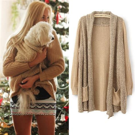 aliexpress down aliexpress com buy long knitted poncho cardigan for