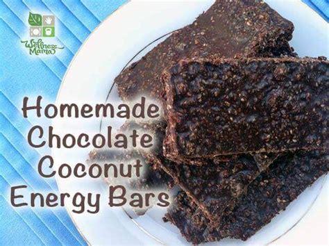 Chia Energy Bar Coconut chocolate coconut energy bars recipe