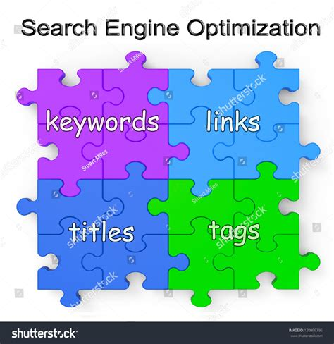 Search Engine Optimization Keywords by Search Engine Optimization Puzzle Shows Links Tags