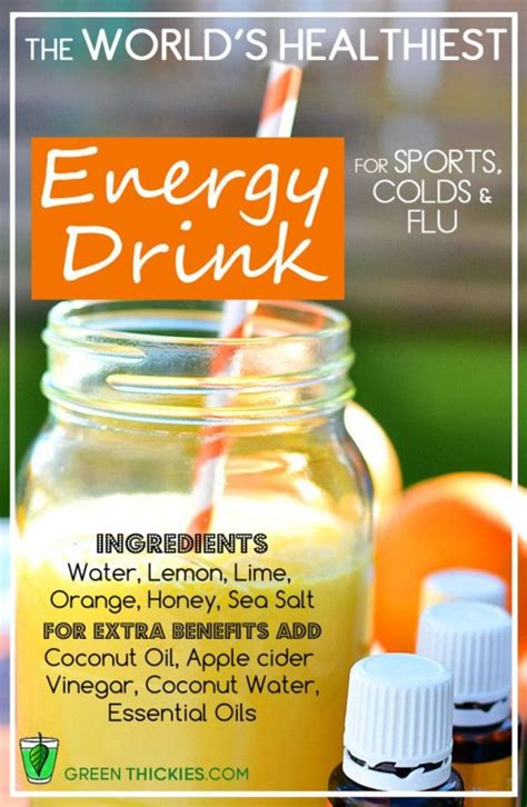 energy drink recipes fitbodybuzz s favorite healthy energy drinks