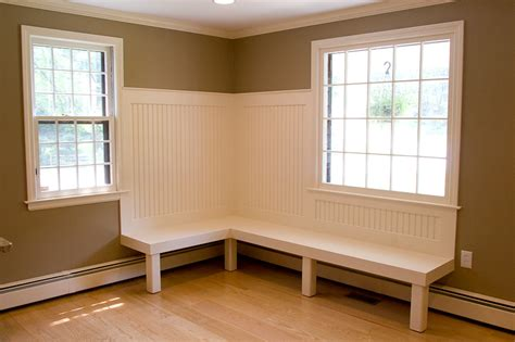 how to build a bench seat in kitchen built in kitchen bench plans