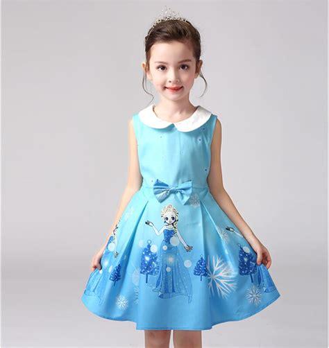 Dress Elsa New T1310 2017 new vestidos elsa snow dress costume children clothing summer dresses princess