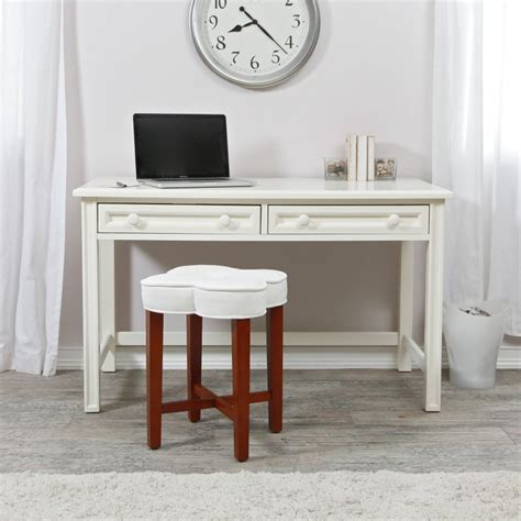 Small Writing Desk White Wood Table Home Office Living Small White Desk