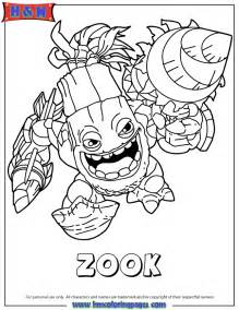 skylander coloring pages skylanders giants series2 zook coloring page h m