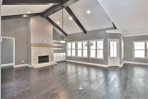 white trim with hardwood floors gorgeous family room i grey walls white trim