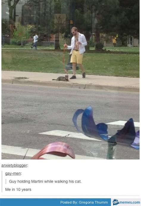 giant martini meme man walking cat with martini memes com