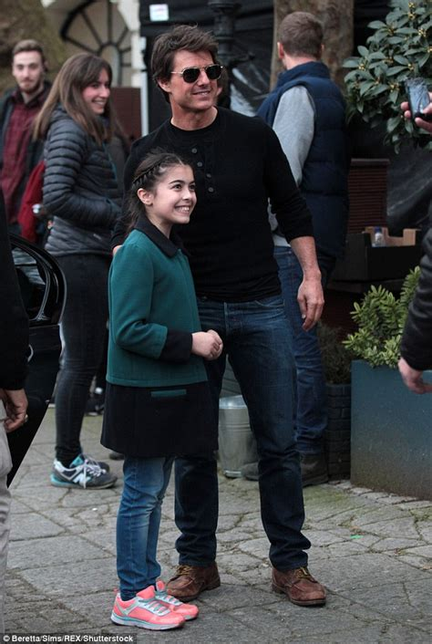 tom cruise and suri 2016 suri cruise sticks tongue out after claims she has not