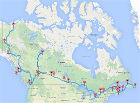 map of canada roads the ultimate canadian road trip as determined by an algorithm