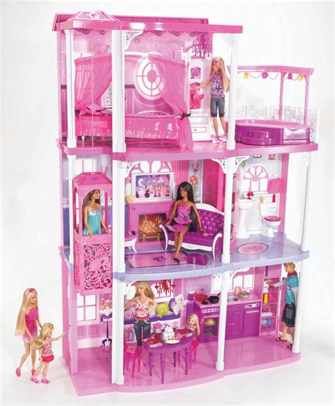 amazon barbie doll house barbie 3 story dream townhouse