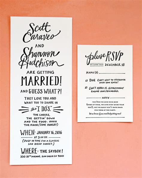 Wedding Invitations San Diego by Lettered San Diego Wedding Invitations