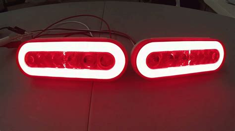 led trailer lights set of 2 led oval trailer brake light with lens and