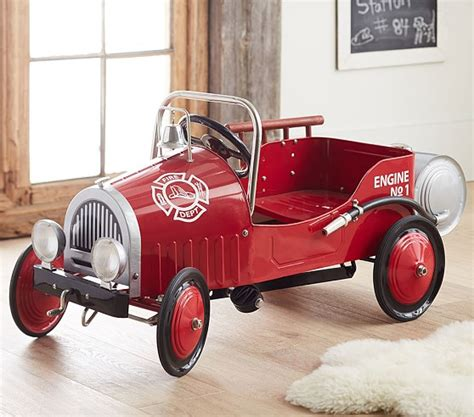 Under Bed Storage fire truck pedal car pottery barn kids