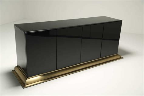 black glass  brass sideboard  ello furniture  sale