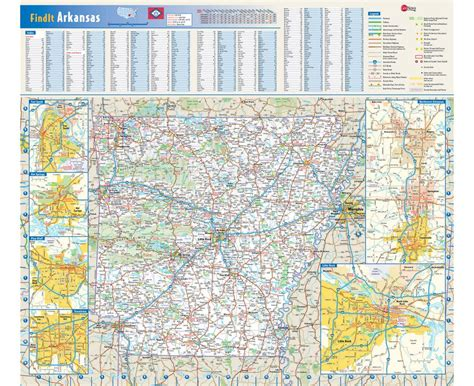road map arkansas usa maps of arkansas state collection of detailed maps of