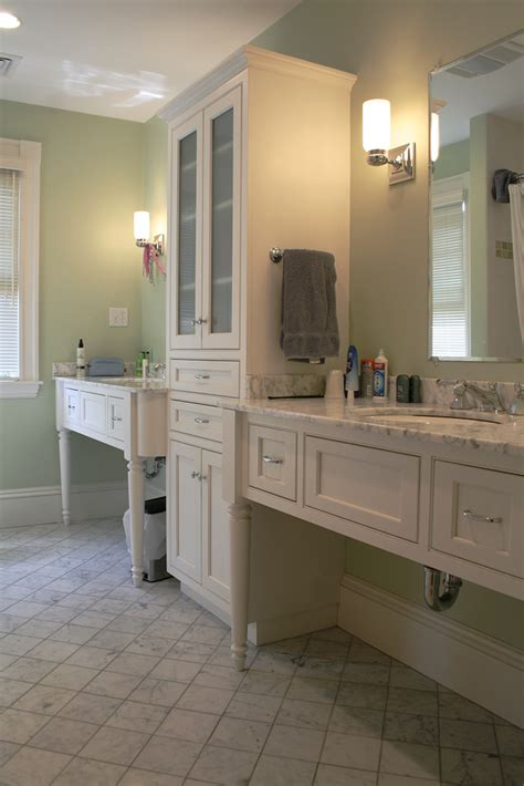 Handcrafted Cabinetry - junior bathroom custom cabinets plain fancy cabinetry