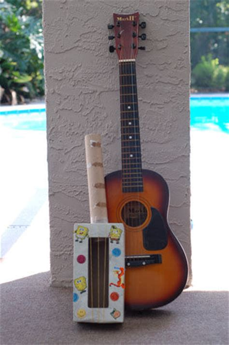 Make A Paper Guitar - make a rainy day tissue box guitar great for