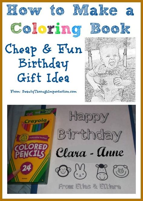 coloring books for cheap how to make your own coloring book cheap birthday gift