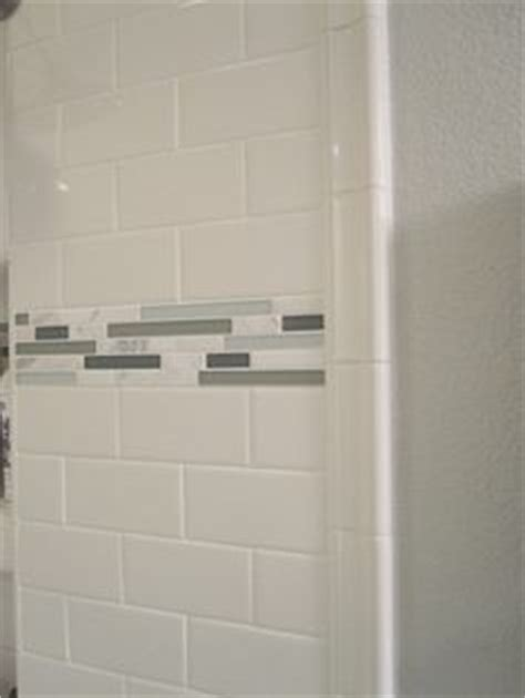 Shower Grout Turning Orange by 4x16 Subway Tiled Master Shower With Accent Design