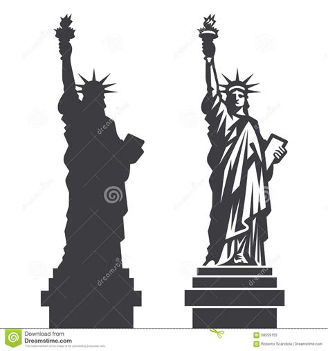 lade stile liberty new york statue of liberty vector silhouette stock vector