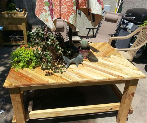 Patio Table From Pallets by Pallet Wood Patio Table 3