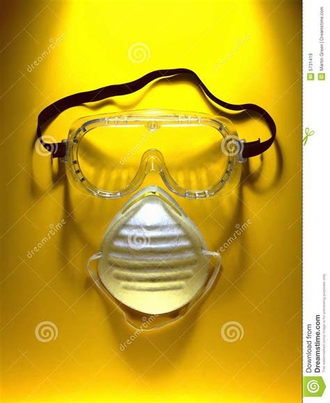 Masker Safety safety goggles and mask stock image image of breathe