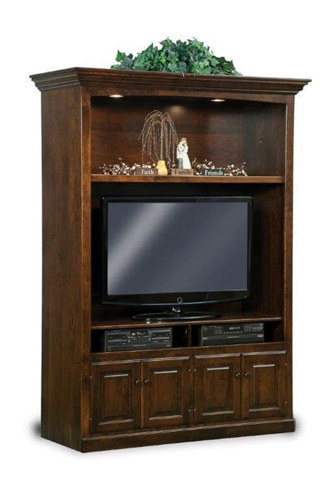 early american victorian lighted entertainment center