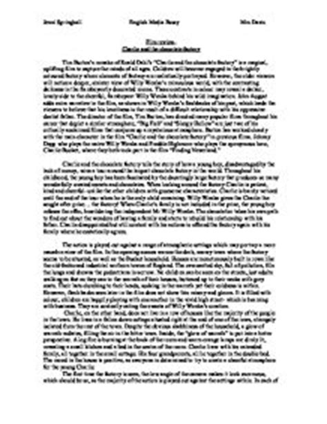 Chocolate Essay by And The Chocolate Factory E