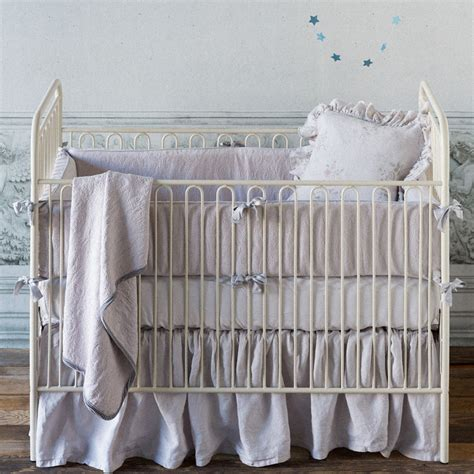 mini crib dust ruffle linen crib dust ruffle by notte linens