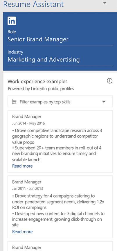 Linkedin Resume Assistant