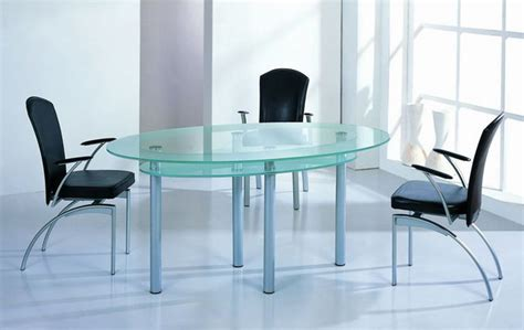 High End Kitchen Table Sets High End Oval Glass Top Furniture Dining Set