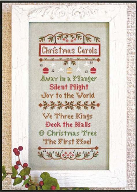 country cottage needleworks silent night cross stitch pattern 123stitch com country cottage needleworks christmas carols christmas