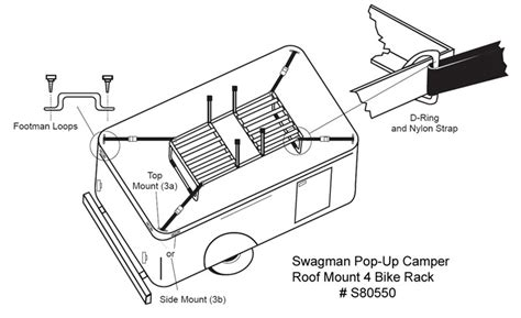 how to install the swagman pop up cer roof mount 4 bike
