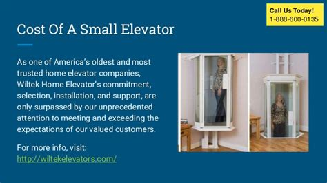 Cost Of Small Home Elevator Residential Home Elevators