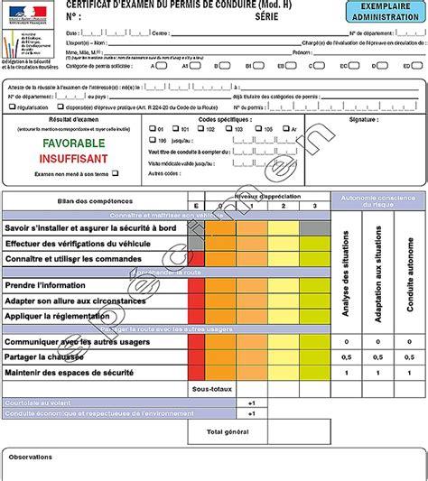 Grille Examen Permis by Permis Voiture B