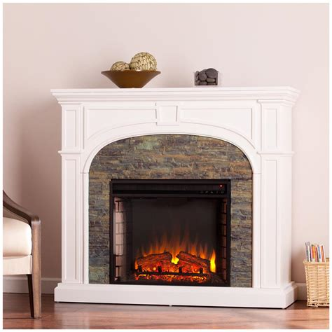 white stacked fireplace southern enterprises tanaya stacked fireplace white