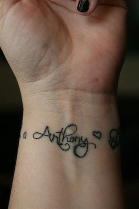 tattoo with names cr tattoos design cool wrist tattoos with names
