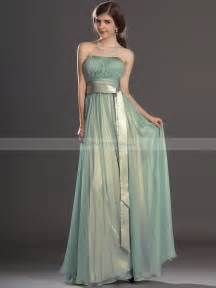 strapless pleated a line chiffon bridesmaid dress with
