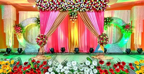 valaikappu stage decoration at jayaram hotel pondicherry