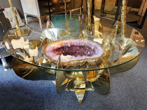 Home Decoration Collection Table Basse Sculpture Lumineuse Quot Am 233 Thyste Quot Vers 1980