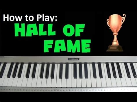 tutorial piano hall of fame how to play quot hall of fame quot by the script ft will i am