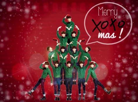 exo christmas wallpaper wall exo xoxo mas by yoonaddictsoshi on deviantart