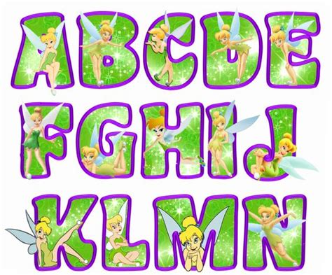 printable disney alphabet letters printable tinkerbell letters a n green tinkerbell
